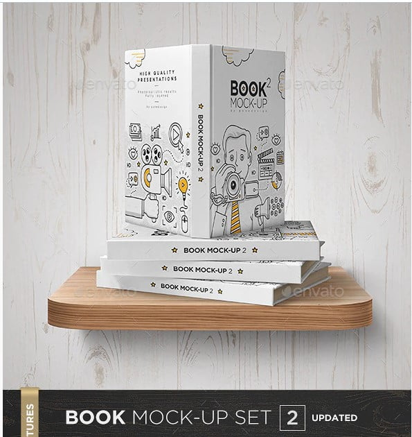Book-Mock-Up-Set-2 - 35+ PSD Book Cover Mockup Templates
