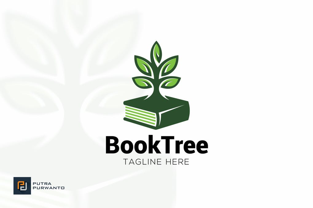 Book-Tree-2 - 60+ Strong Tree Logo Design Templates [year]
