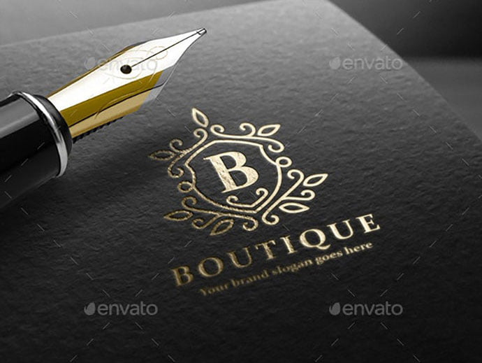 Boutique-Letter-Crest-Logo - 35+ Amazing Heraldry Logo Design Templates [year]