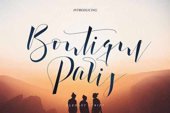 Boutique-Paris - 52+ Wonderful Fonts for Calligraphy Logo Design [year]