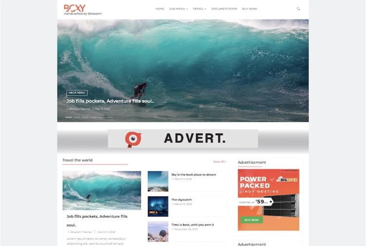 Boxy - 60+ Best Free Responsive News Blogger Templates [year]