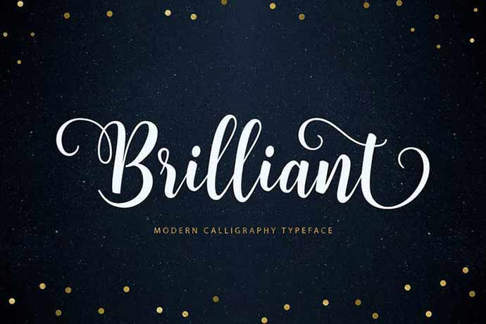 Brilliant-Script - 52+ Wonderful Fonts for Calligraphy Logo Design [year]