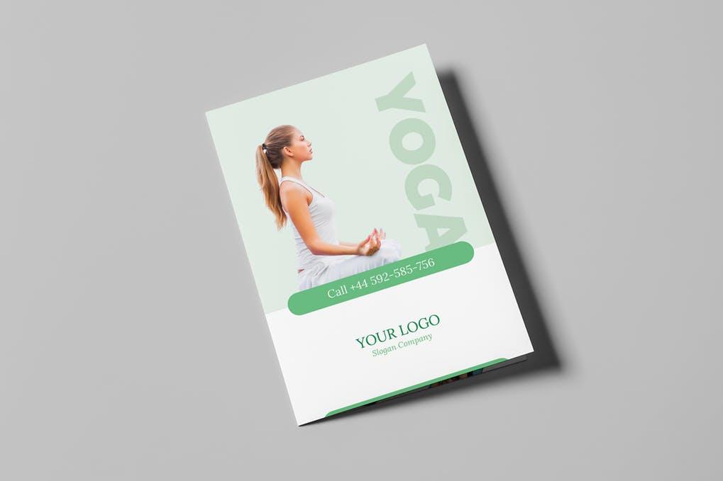 Brochure-–-Yoga-Bi-Fold - 60+ Bi-fold & Tri-fold Brochure Design Templates [year]