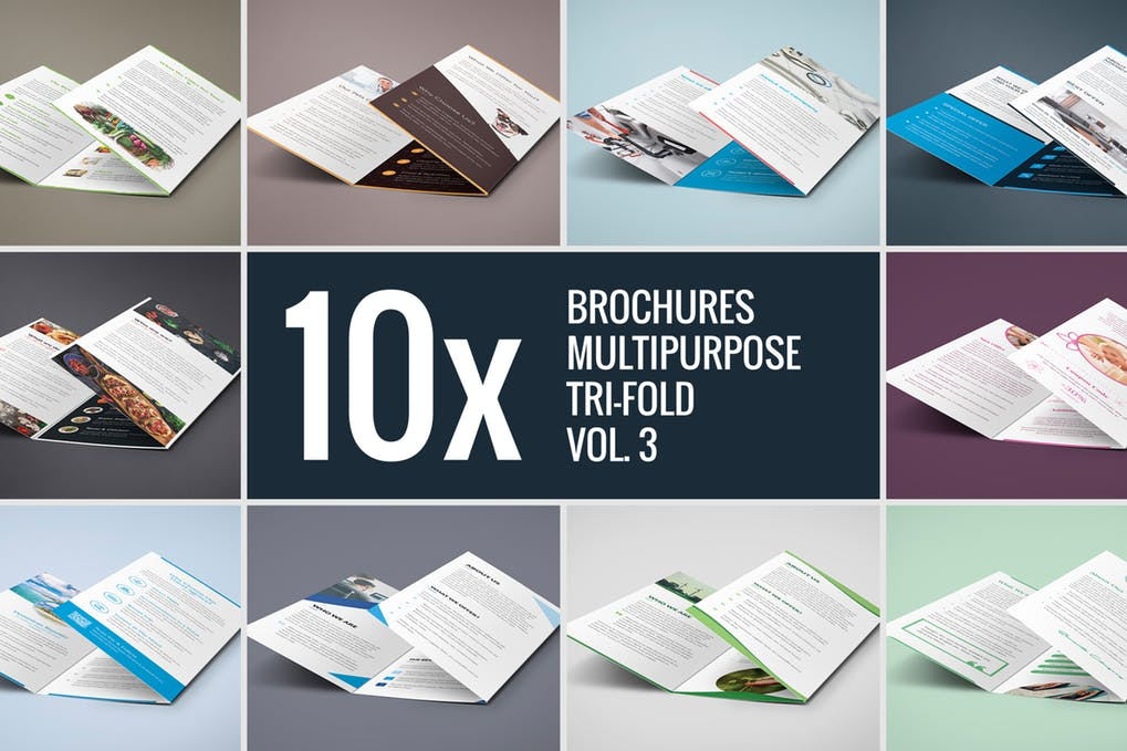 Brochures-–-Multipurpose-Tri-Fold-Bundle-vol.-3 - 60+ Bi-fold & Tri-fold Brochure Design Templates [year]