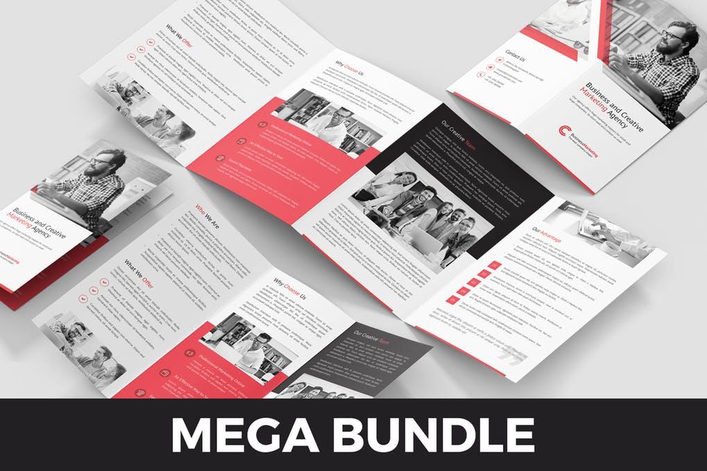 Business-Marketing-–-Brochures-Bundle-10-in-1 - 60+ Bi-fold & Tri-fold Brochure Design Templates [year]