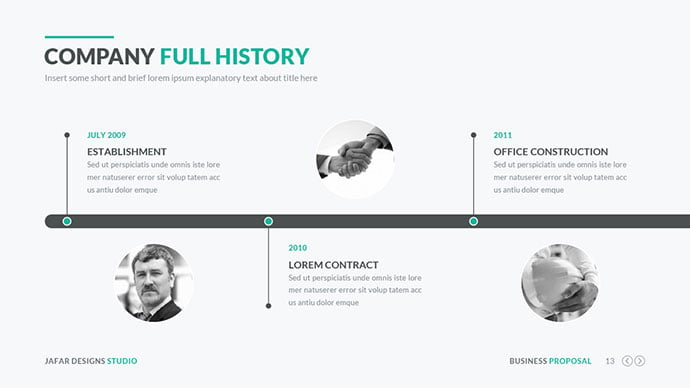 Business-Proposal-PowerPoint-Template - 30+ Wonderful Timeline PowerPoint Templates [year]