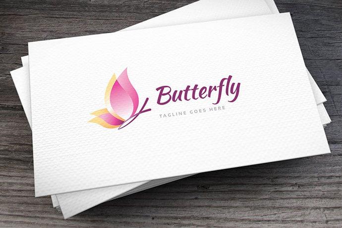 Butterfly-Logo-Template-1 - 50+ Stunning Beauty Salon Logo Design Templates [year]