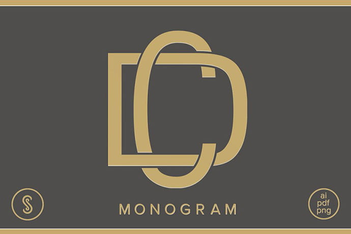 CD-Monogram-DC-Monogram - 35+ Excellent Monogram Logo Design Templates