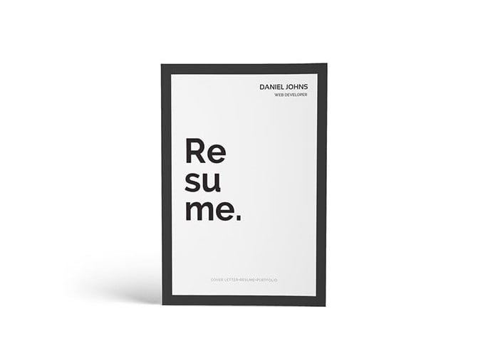 CV-Resume-Portfolio - 35+ Stunning Black & White Resume Templates [year]