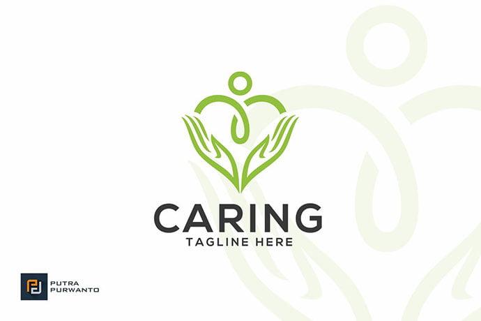 Caring - 50+ Stunning Beauty Salon Logo Design Templates [year]