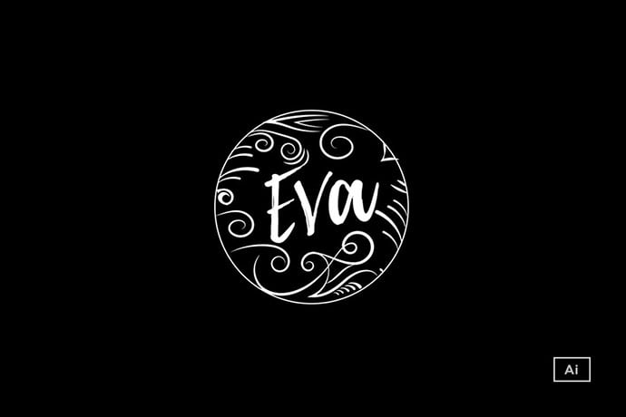 Chalkboard-Style-Logo-Template - 50+ Stunning Beauty Salon Logo Design Templates [year]