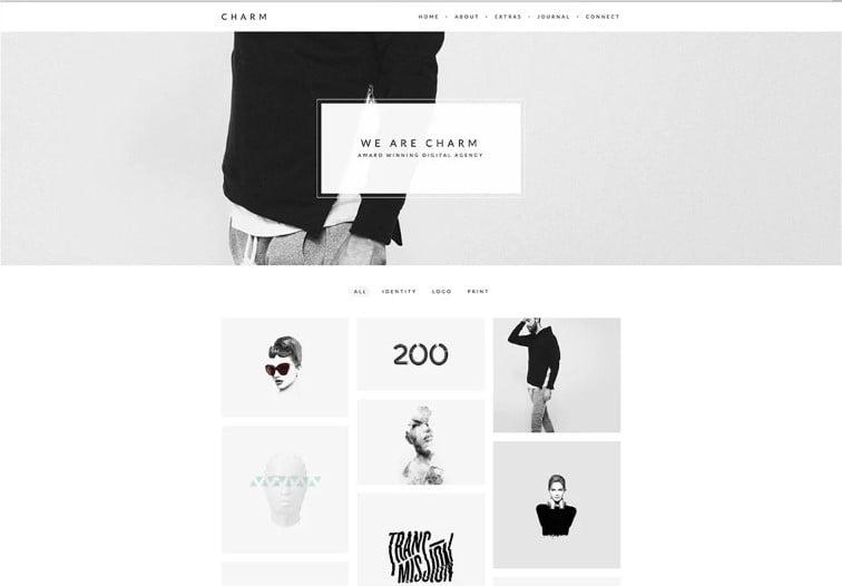Charm - 38+ Shiny WordPress Themes for Designers [year]