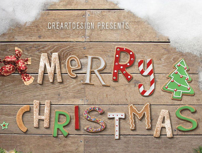 Christmas-Text-Effects-And-Styles-for-Photoshop - 35+ Tasty Food & Drink Photoshop Text Effects