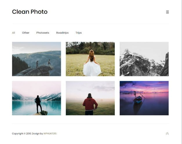Clean-Photo - 30+ Wedding Photography WordPress Themes [year]