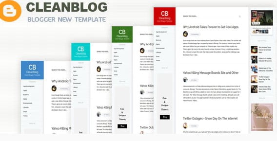 Cleanblog - 35+ Best Stunning Blogger One Page Template [year]