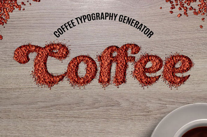 Coffee-Typography-Action - 35+ Tasty Food & Drink Photoshop Text Effects