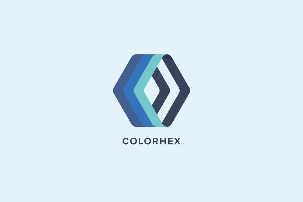 Color-Hex-Logo-Template - 35+ Glamor 3D Flat Logo Design Templates [year]