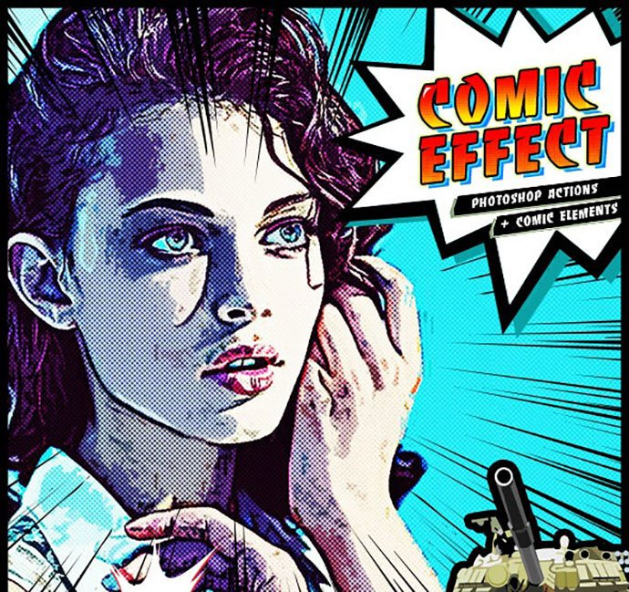 Comic-Effect-PS-Actions - 30+ Comic Style Photoshop Actions [year]