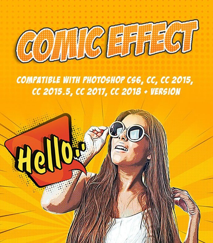 Comic-Effect - 30+ Comic Style Photoshop Actions [year]