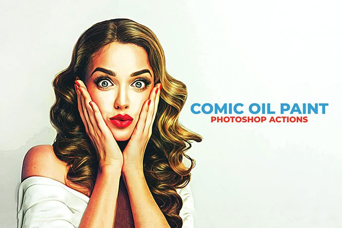 Comic-Oil-Paint-Photoshop-Actions - 30+ Comic Style Photoshop Actions [year]