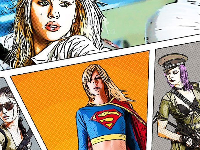 Comics-Book-Photoshop-Creator - 30+ Comic Style Photoshop Actions [year]