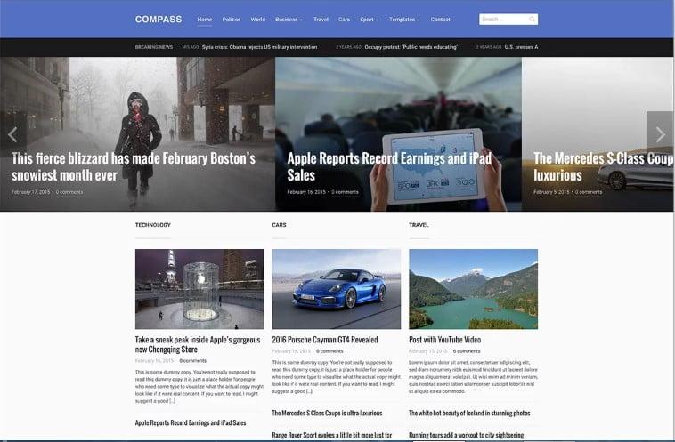 Compass-1 - Top 60+ News Magazine WordPress Themes [year]