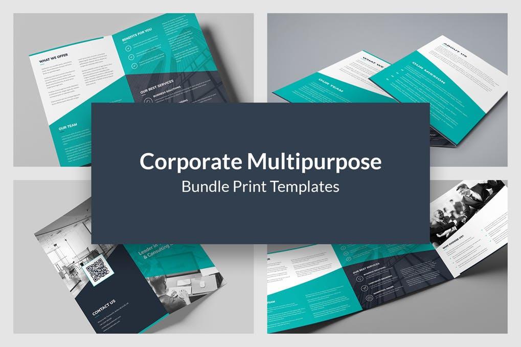 Corporate-Multipurpose-–-Brochures-Bundle-10-in-1 - 60+ Bi-fold & Tri-fold Brochure Design Templates [year]