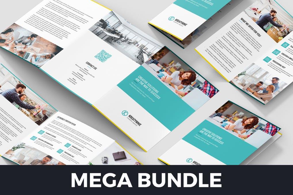 Creative-Agency-–-Brochures-Bundle-10-in-1 - 60+ Bi-fold & Tri-fold Brochure Design Templates [year]
