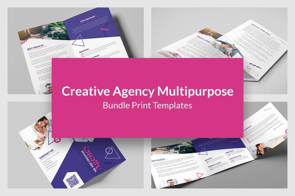 Creative-Agency - 60+ Bi-fold & Tri-fold Brochure Design Templates [year]
