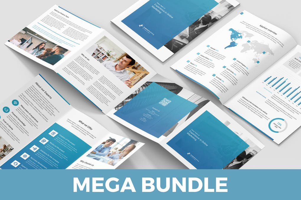 Creative-Marketing - 60+ Bi-fold & Tri-fold Brochure Design Templates [year]