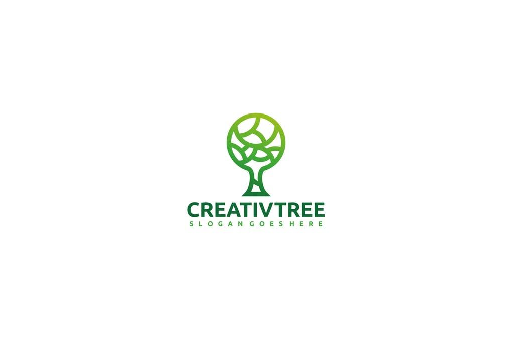 Creative-Tree - 60+ Strong Tree Logo Design Templates [year]
