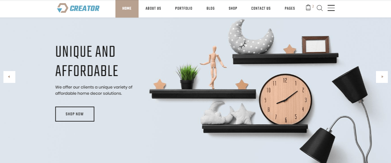 Creator - 60+ HTML Interior & Furniture Website Templates [year]