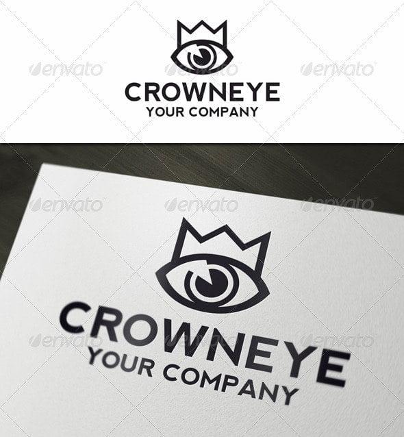 Crown-Eye - 35+ Awesome Eye Logo Design Templates [year]