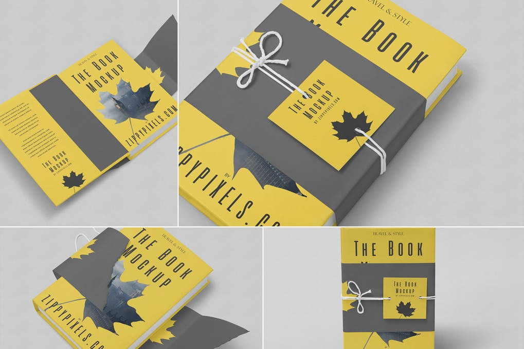 Customizable-Hard-Cover-Book-Mockups - 35+ PSD Book Cover Mockup Templates [year]