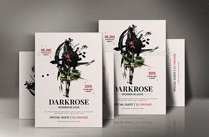 Dark-Rose-Poster - 35+ Nice PSD Movie Poster Design Templates [year]