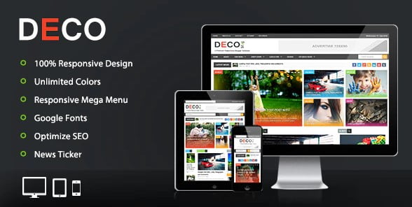 Deco-Mag - 35+ Best Stunning Blogger One Page Template [year]