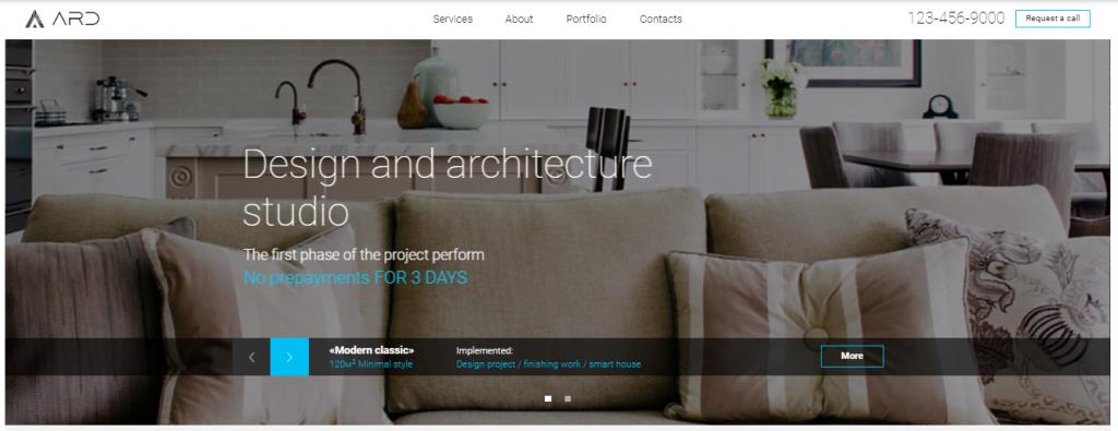Design-Studio - 60+ HTML Interior & Furniture Website Templates [year]