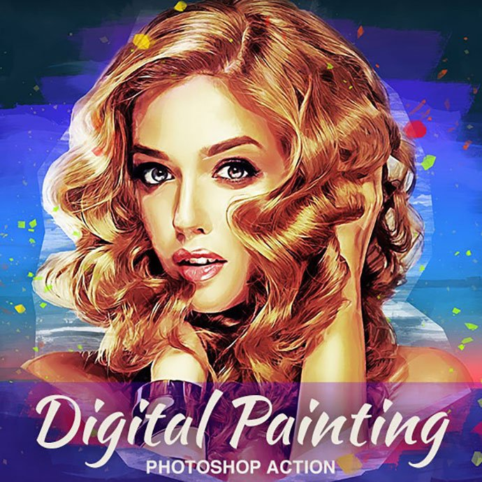 Digital-Painting-Photoshop-Action - 30+ Amazing Portrait Photoshop Actions [year]
