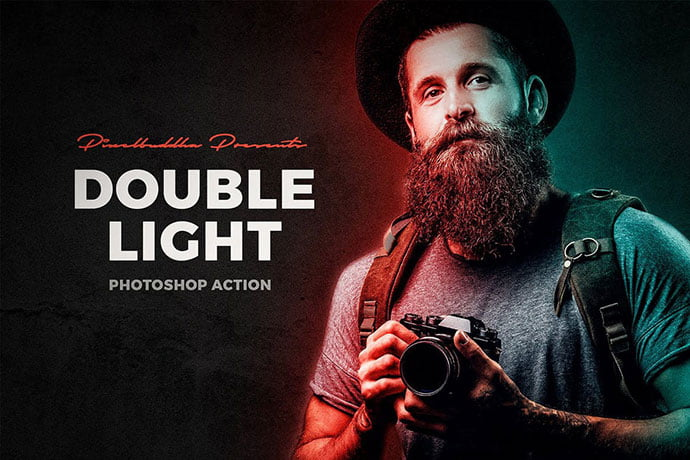 Double-Light-Photoshop-Action - 35+ Attractive Glow Effect Photoshop Actions
