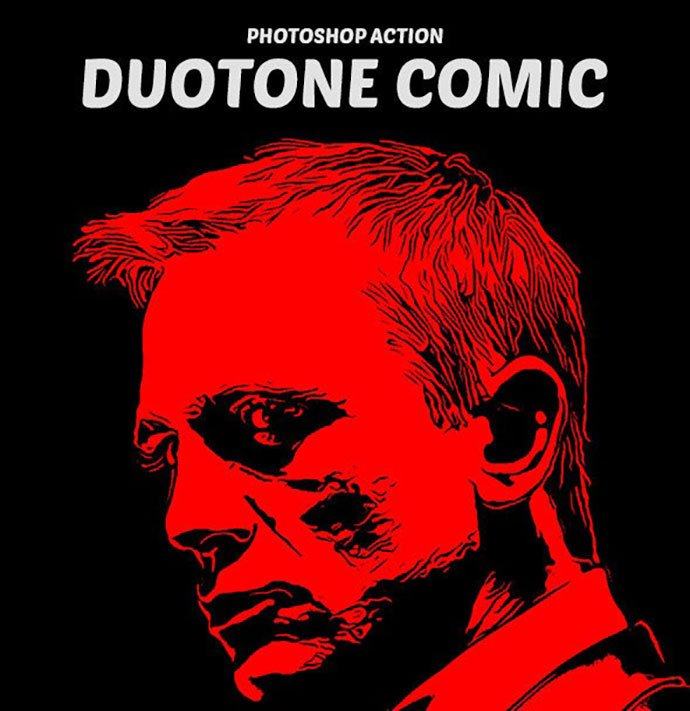 Duotone-Comic - 30+ Comic Style Photoshop Actions [year]