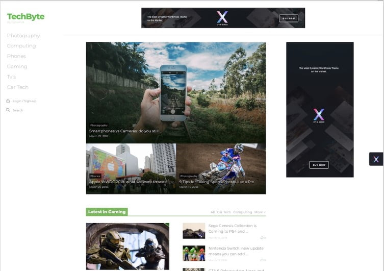 DynamiX - Top 60+ News Magazine WordPress Themes [year]