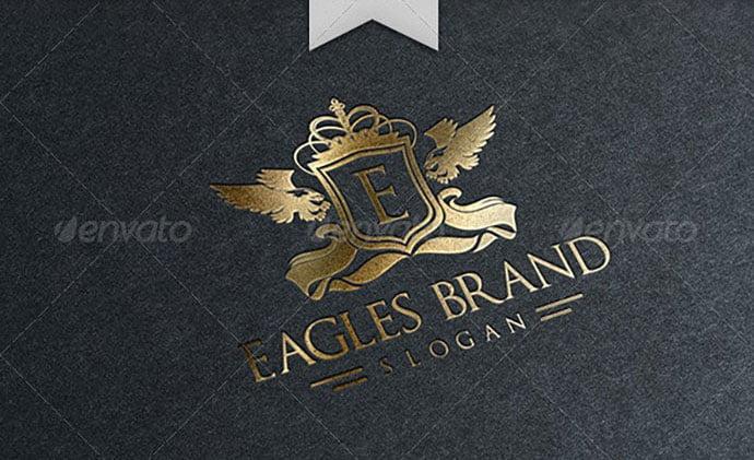Eagles-Brand-Logo-Template - 35+ Amazing Heraldry Logo Design Templates [year]