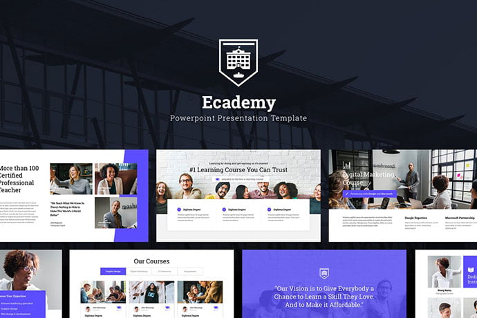 Ecademy - 30+ PowerPoint Templates for School or College [year]