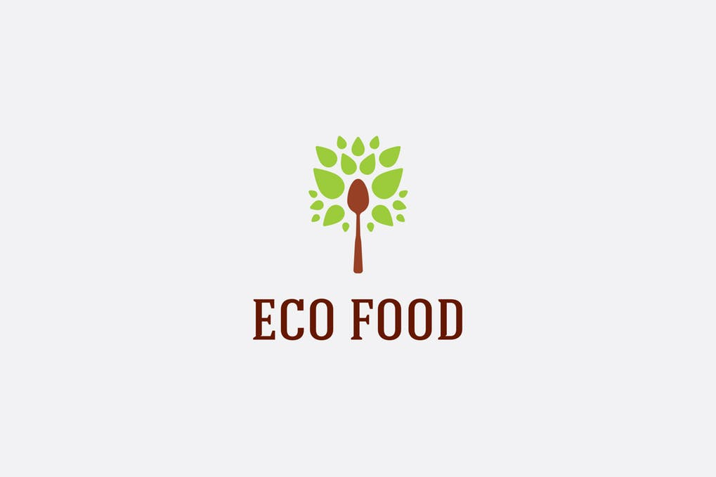 Eco-Food - 60+ Strong Tree Logo Design Templates [year]