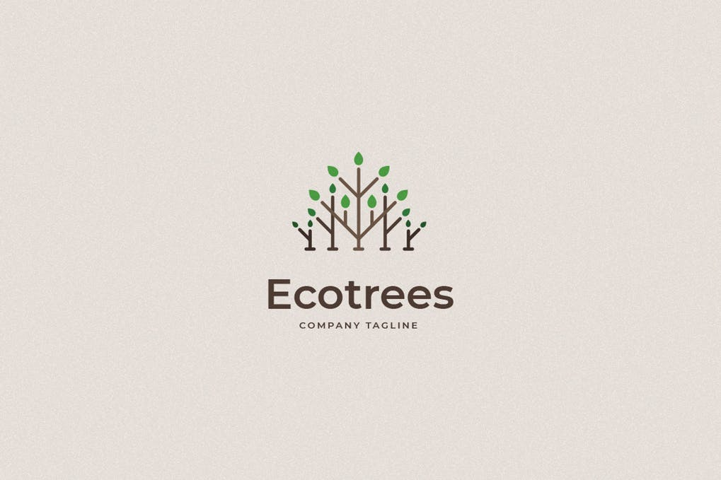 Ecotrees - 60+ Strong Tree Logo Design Templates [year]