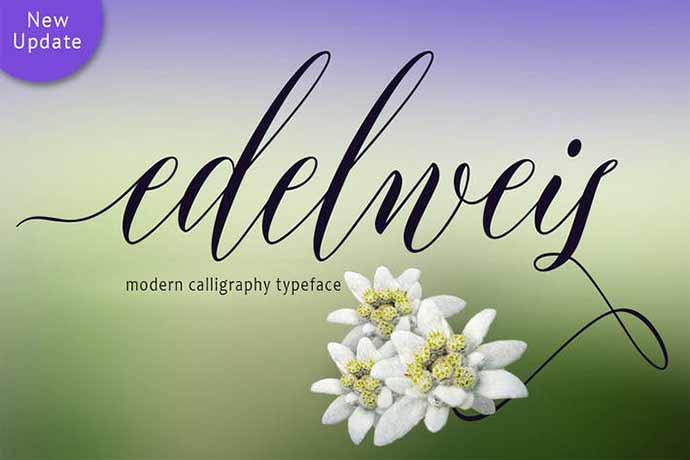 Edelweis - 52+ Wonderful Fonts for Calligraphy Logo Design [year]