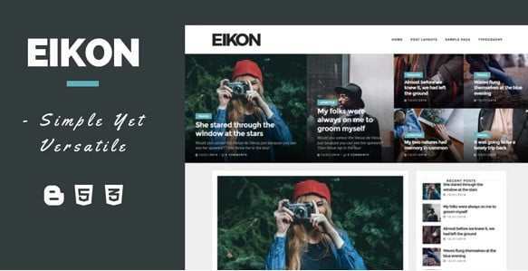 Eikon - 35+ Best Stunning Blogger One Page Template [year]