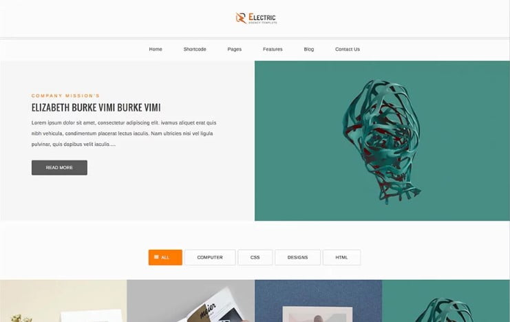 Electric - 38+ Shiny WordPress Themes for Designers [year]
