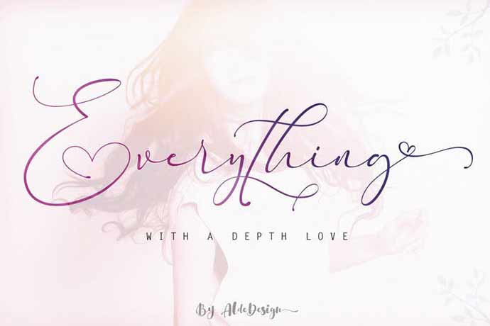 Everything-Calligraphy - 52+ Wonderful Fonts for Calligraphy Logo Design [year]