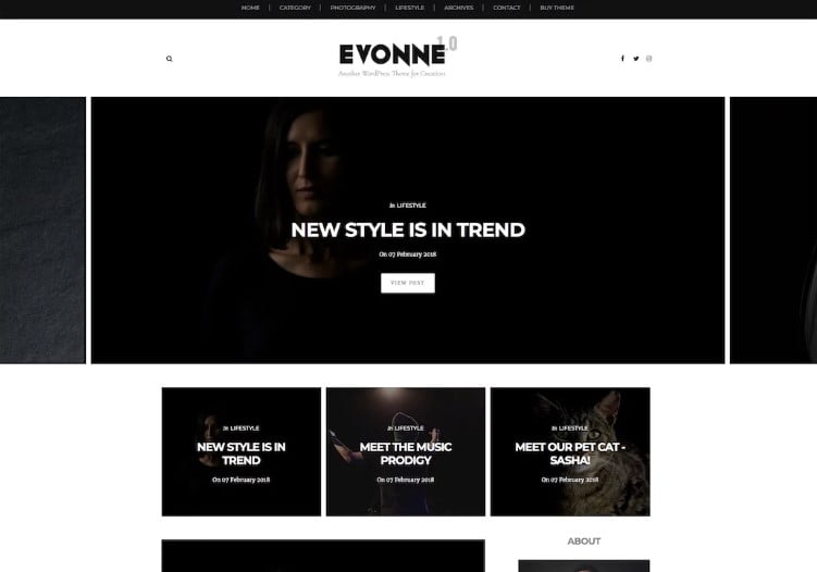 Evonne - 60+ Best Free Responsive News Blogger Templates [year]